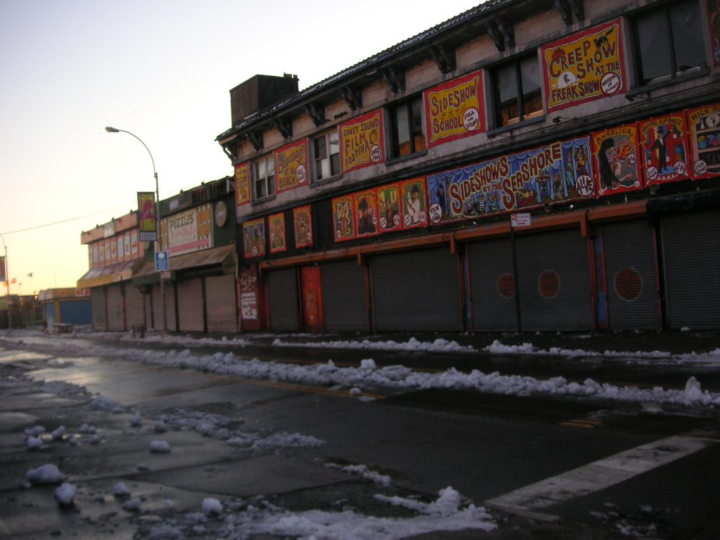 coney island empty street