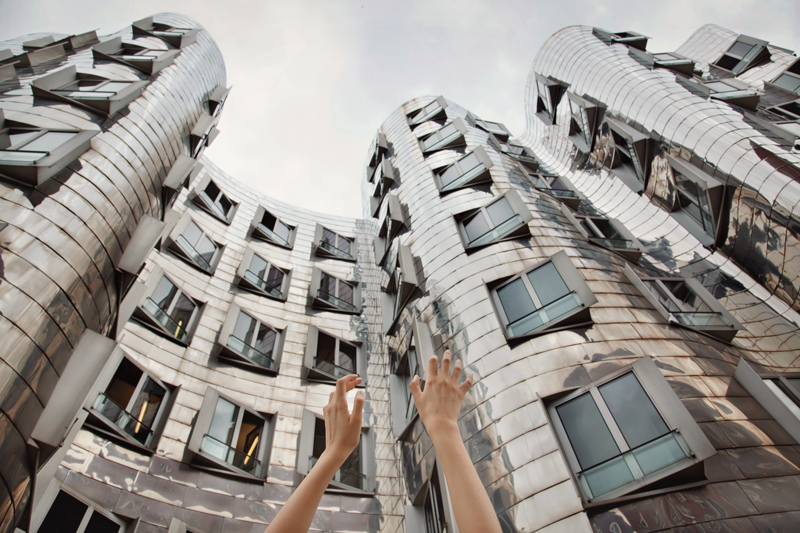 Düsseldorf, Germany. The Gehry buildings