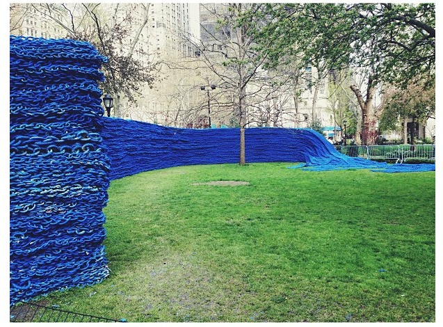 ORLY GENGER Nautical Rope Madison Square Park_blue ropes