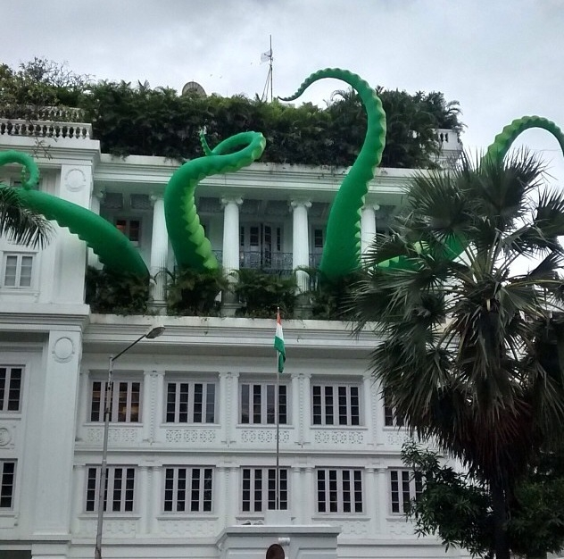 Lurker's Green Tentacled Monster Attacks in Indi