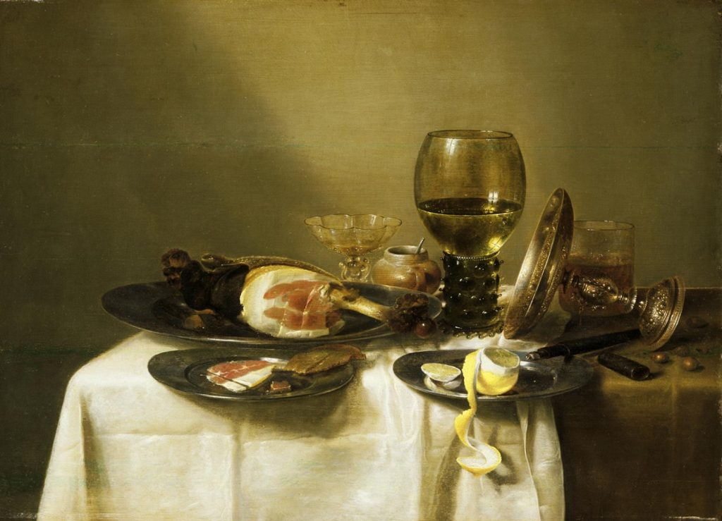 Still Life with a Ham and a Roemer Willem Claesz. Heda, Dutch (active Haarlem), 1594 - 1680/82