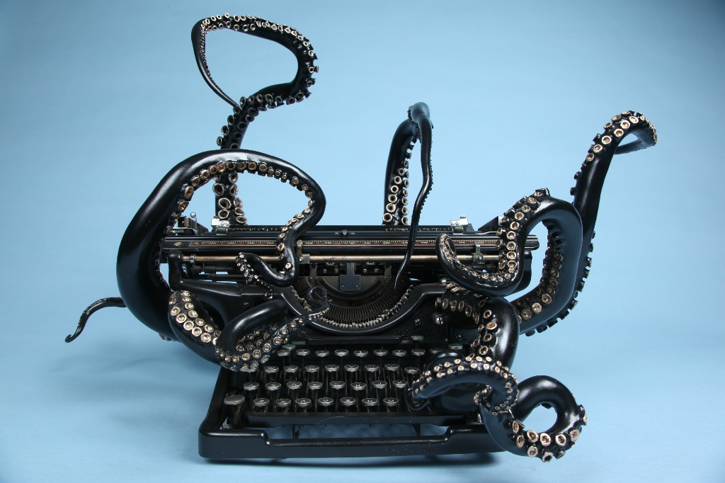 Octopus Typewriter by Courtney Brown