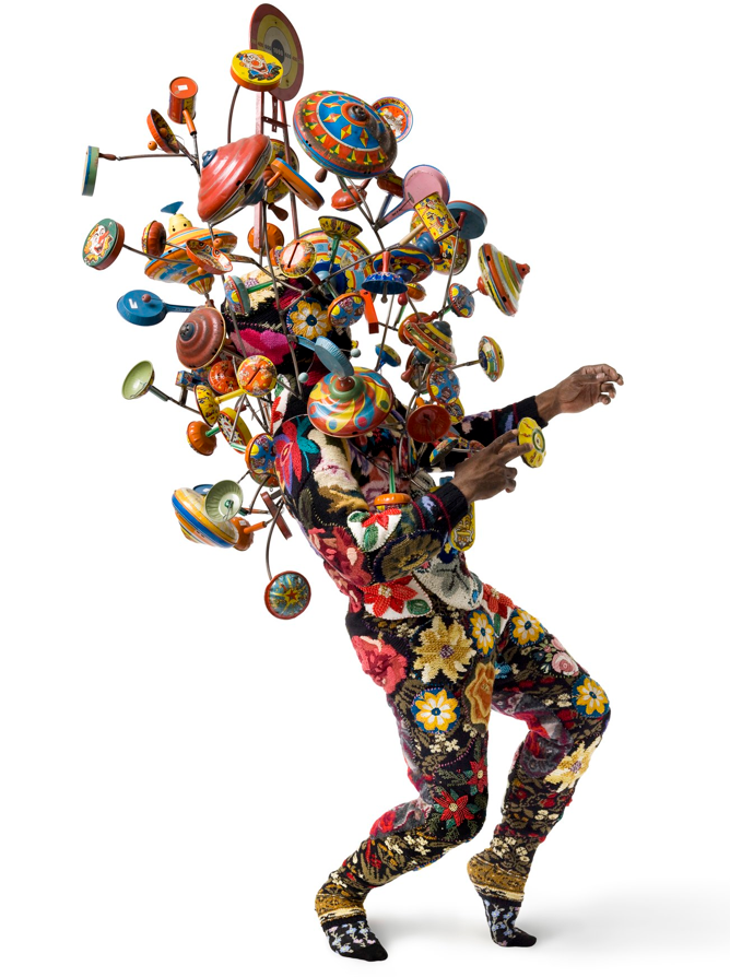 Artist Nick Cave in sound suit