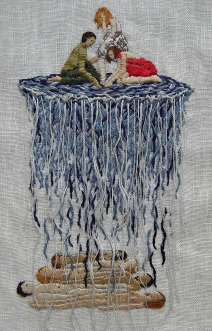 The Embroidery of Michelle Kingdom_The depths of the sea are the only water after all